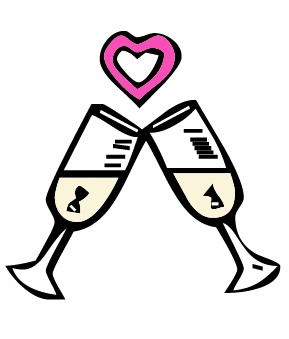Gallery For > Wedding Champagne Toast Clipart