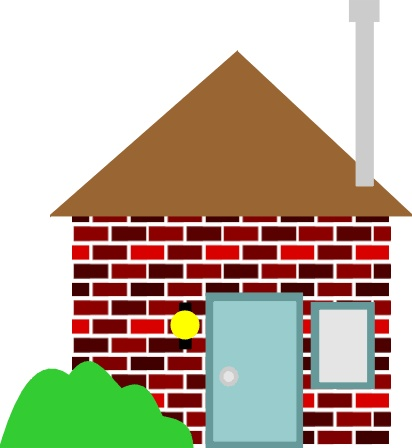 house clipart image. simple house clipart.